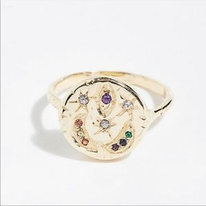 Jewelry - 14k Gold Plated Celestial Insignia Ring